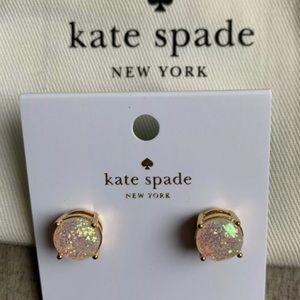 Kate Spade Glitter Opal Gold Earrings